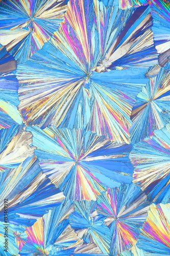 Chemistry and art, microscope image of crystals of  acetylsalicylic acid Canvas Print