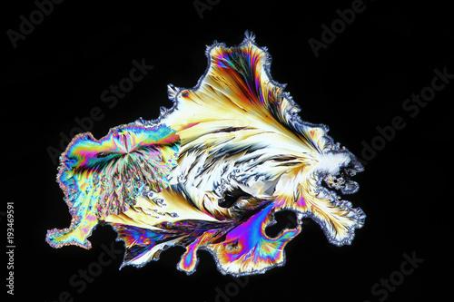 Photo Art and chemistry,  microscope image of paracetamol