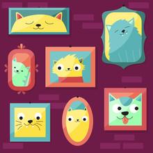 Retrato De Gatos