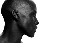 Side Portrait Of African Ameri...
