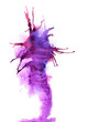 Abstract handmade violet watercolor splash on white background. Colorful texture for your design.