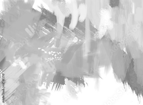 Fotografie, Obraz  Digital Abstract Painting in shades of gray