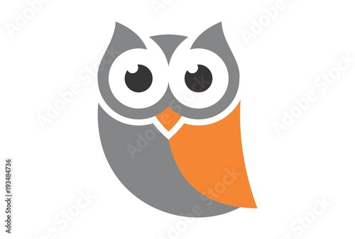 Canvas Prints Owls cartoon cute owl logo vector dsign