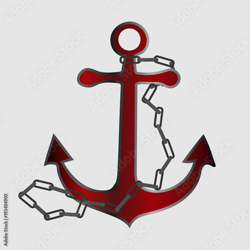 24547cea6 Anchor vector illustration. Anchor tattoo style, drawing for aquatic or  nautical theme. Marine sign symbol. Yacht style design.
