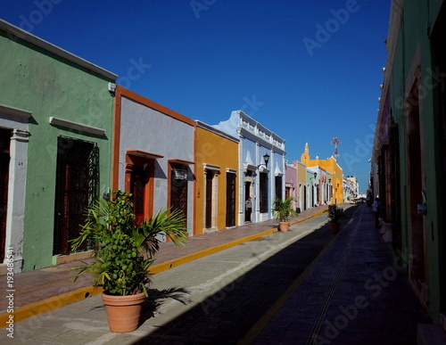 Foto op Aluminium Cyprus A pretty street in the walled city of Campeche in Mexico