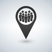 Meeting Point Location Icon. F...