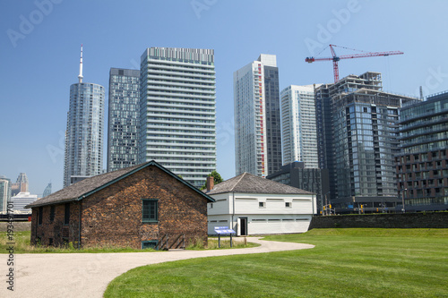 Stampa su Tela  The historic buildings at Fort York in Toronto