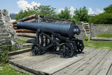 A historic cannon at Fork York in Toronto