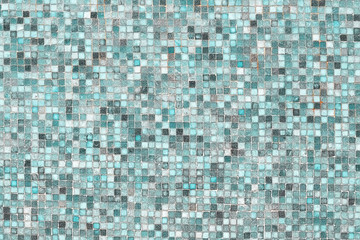 Fototapeta Blue mosaic wall background texture