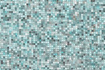 Panel Szklany Podświetlane Mozaika Blue mosaic wall background texture