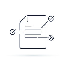 Contract Terms And Conditions. Document Paper With Creative Writing Or Storytelling Concept. Read Brief Summary