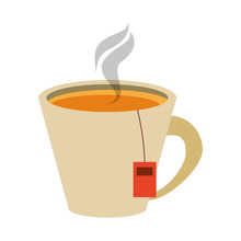 Tea In Cup Icon Image Vector I...
