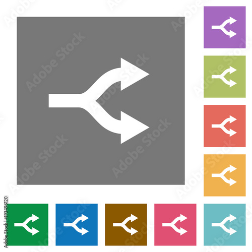 Fotografija  Split arrows square flat icons
