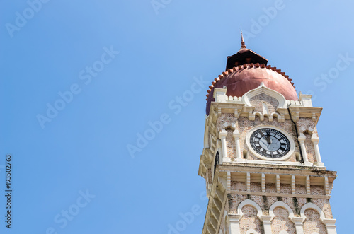 The Heritage Clock Tower of Sultan Abdul Samad building is located in front of the Merdeka Square in Jalan Raja,Kuala Lumpur Malaysia Poster