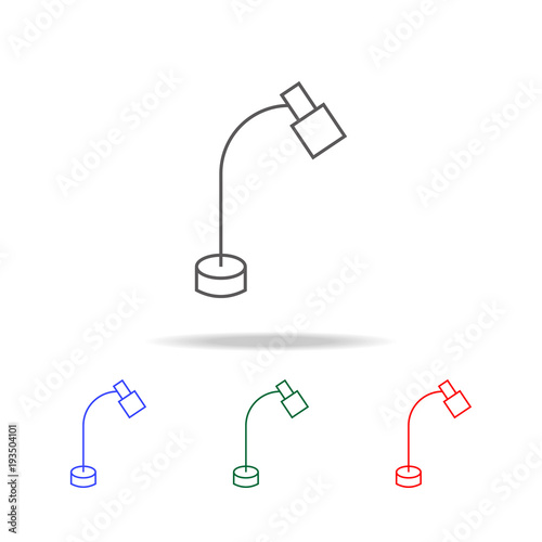 table lamp icon  Elements in multi colored icons for mobile concept