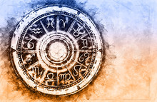Zodiac Sign Horoscope Cirlce O...