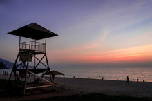 Lifeguard Station Over The Sea...