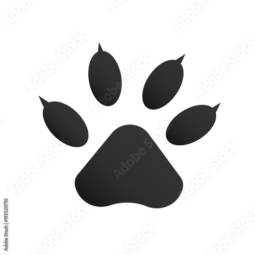 Dog or cat paw print icon line outline style isolated on