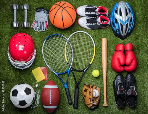 Fototapeta sport zestaw-sportowych-przyborow