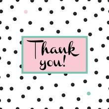 Cute Card Of Polka Dot. Thank ...