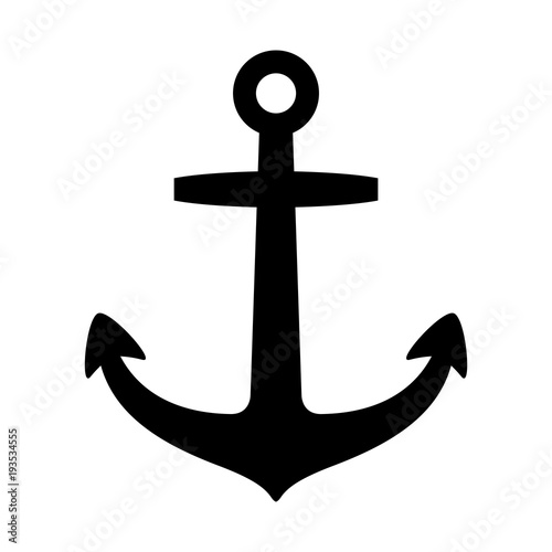 Anchor vector logo icon helm Nautical maritime boat illustration symbol Canvas Print