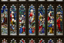 Stained Glass At St Andrew's Cathedral, The Cathedral Church Of The Anglican Diocese Of Sydney In The Anglican Church Of Australia.