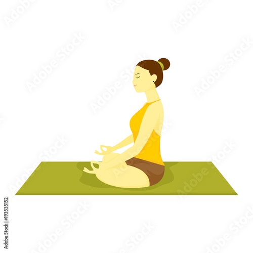 Fotografía  Half Lotus Pose Yoga Meditation