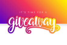 Giveaway Banner Card With Lett...