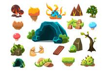 Fabulous Cave, Trees, Plants, ...