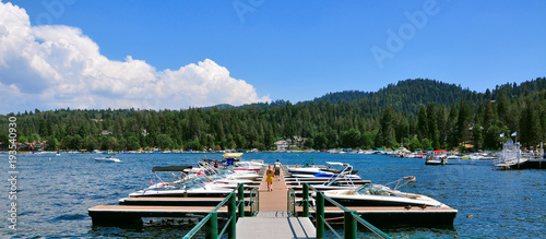 View of Lake Arrowhead California, USA Wallpaper Mural