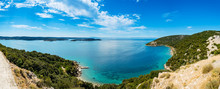 Panoramic View Of Adriatic Sea Near Town Lopar On Island Rab In Croatia