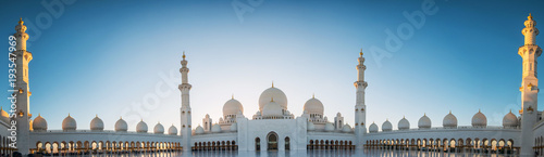Stampa su Tela Abu Dhabi, UAE, 04 January 2018, Sheikh Zayed Grand Mosque in the Abu Dhabi, Uni