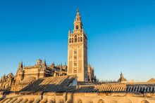 Giralda In The City Of Seville...