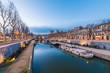 canvas print picture - Canal de la Robine in Narbonne, France