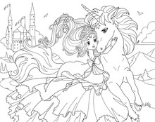 Coloring Page Unicorn And Prin...