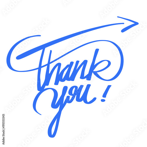 Thank you quote hand lettering Lerretsbilde