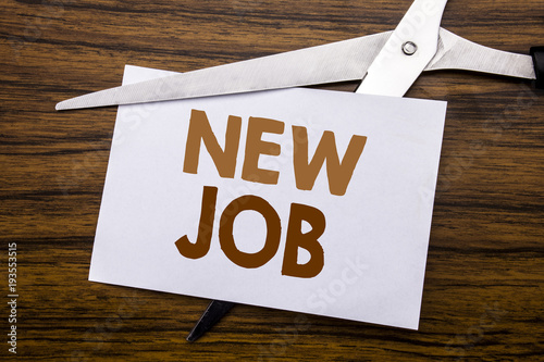 Hand Writing Text Caption Inspiration Showing New Job Business Concept For Hiring Hire Recruitment Written