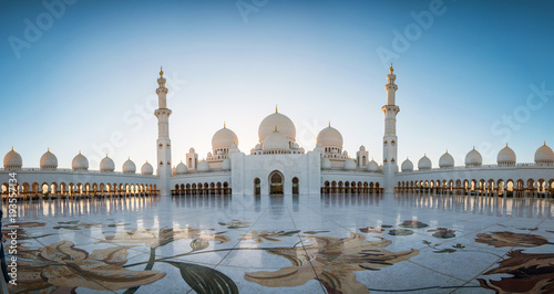 Abu Dhabi, UAE, 04 January 2018, Sheikh Zayed Grand Mosque in the Abu Dhabi, United Arab Emirates