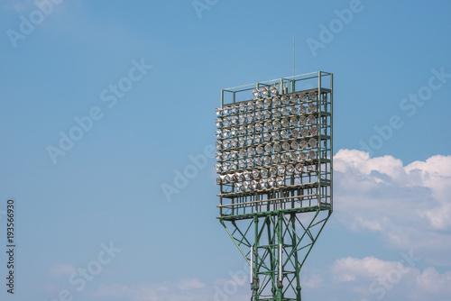 Keuken foto achterwand Stadion スタジアムの照明塔