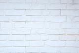 Fragment ściany z białej cegieły, tekstura, tło