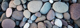 Fototapeta Kamienie - Web banner abstract smooth round pebbles sea texture background