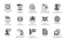 Set Of 15 Flat Icons - Biometr...