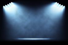 Rows Of Side Spotlights Illumi...