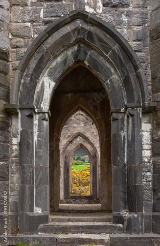 Fotografie, Obraz  Arches of Old Church of Dunlewey, Ireland
