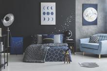 Star Stickers In Blue Bedroom