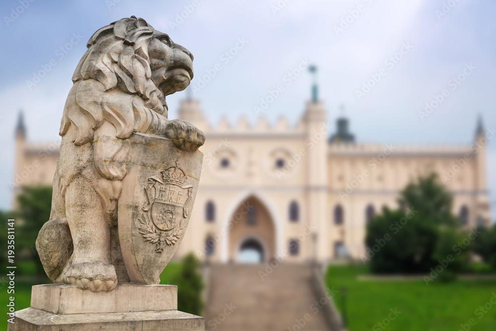 Fototapety, obrazy: Zamek Królewski w Lublinie z ochroną lwa, Polska