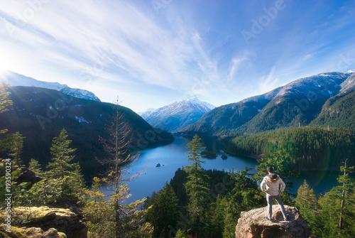 Obraz na plátně  Diablo Lake Overlook