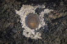 Survey Marker In The Painted D...