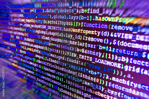Coding Cyberspace Concept Screenshot With Random Parts Of Program Code Freeware Open Source Project Closeup Of Java Script Css And Html Code Website Design Software Development Buy This Stock Photo And