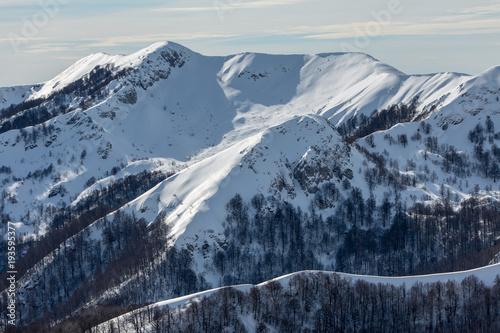 Plakat Zimowy krajobraz w Apeninach